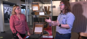 A screenshot from the Open University Webcast from Bletchley Park