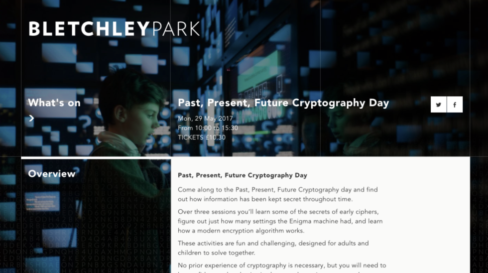 Case Study: Bletchley Park – Past, Present, Future: Cryptography
